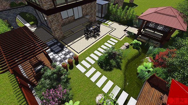 现代中式风格庭院